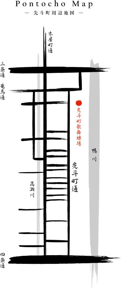 先斗町周辺地図